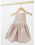 dust pink jurkje van DOTM. Linnen met geweven katoen